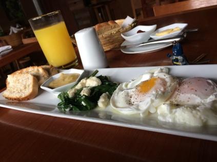 Un buen desayuno en el centro de la ciudad